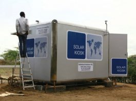First ever locally manufactured Solar Kiosk launched in Ghana
