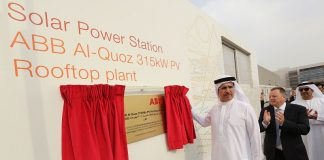 ABB's 315kW solar power plant in Dubai inaugurated