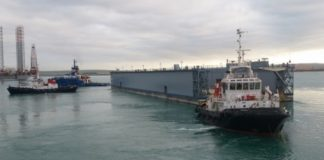 Franki Africa New Quay Wall built for Dormac's floating dock completed