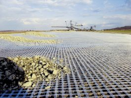 Fibertex distributes Naue Geosynthetics geogrids to strengthen unstable soil and sub grades