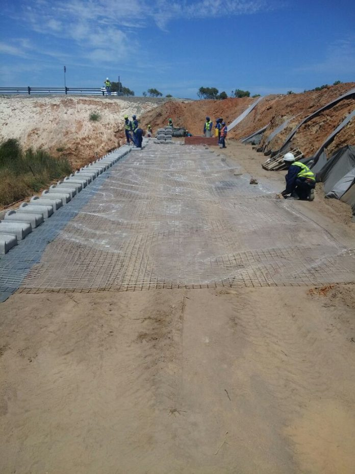 Fibertex SA supplies geosynthetic products used in construction of electrical substation