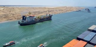 Egyptian president El-Sisi hails Suez Canal construction project