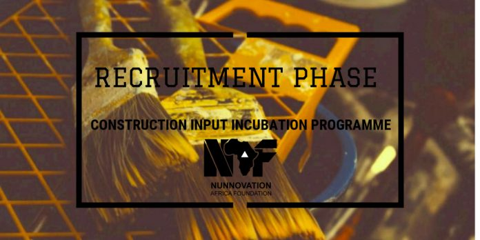 Building entrepreneurs through the Construction Input Incubation Programme