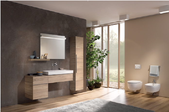 Design meets function; Bathroom series now adorned with the Geberit logo