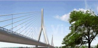 First cable installed on Nile bridge in Uganda