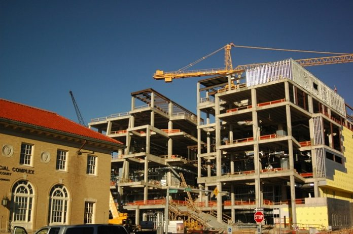 Housing complex under construction