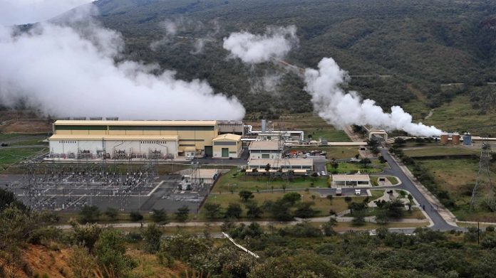 The Olkaria geothermal power plant