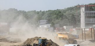 Dust at a construction site