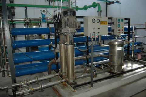 Reverse Osmosis Section - Zero Discharge Plant ion exchange