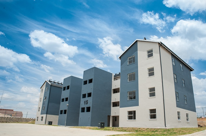 Construction of RDP housing project in South Africa complete
