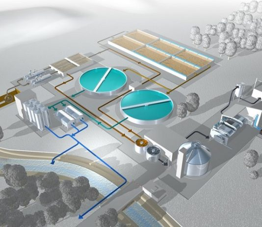 Environment-friendly wastewater treatment plant