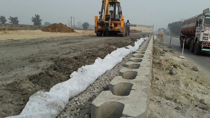 Geo-synthetics in road construction