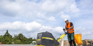 BOMAC's new BPR 70/70D compactor reduces vibrations on operator's hands