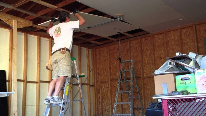 7 Constructive measures taken when installing a ceiling dry wall