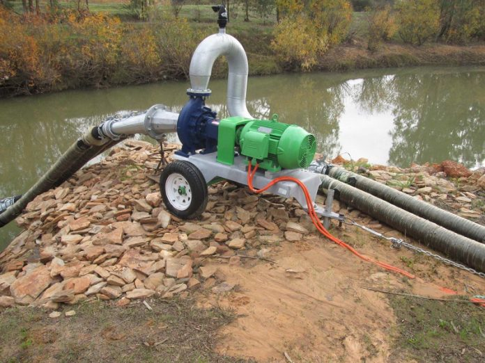 Bosch Munitech IoT technology for drought management - typical 'trailer' type pumping configuration