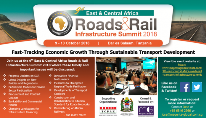 9th East & Central Africa Roads & Rail Infrastructure Summit 2018