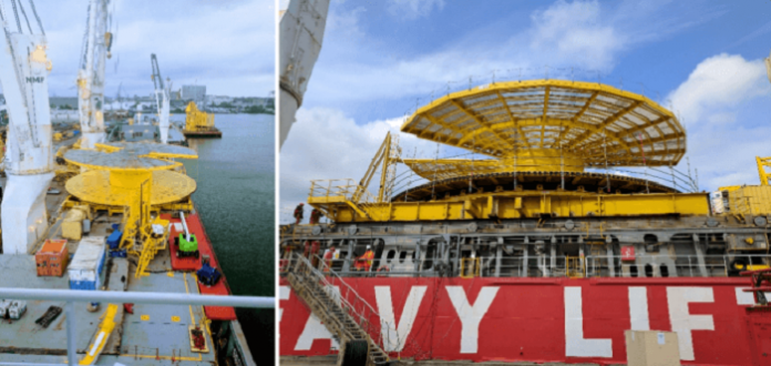 HANSA HEAVY LIFT transports giant carousel to Egina Oil Field in Nigeria