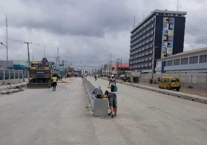 Construction of Apapa-Wharf concrete road, Nigeria completed