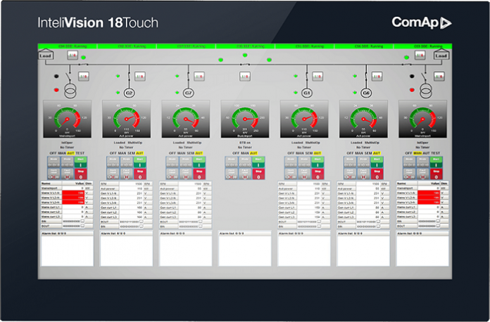 ComAp's new InteliVision 18Touch: Monitor and Control Your Site from One Device
