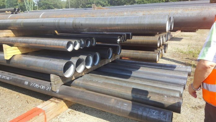 Weld processing process of spiral pipe