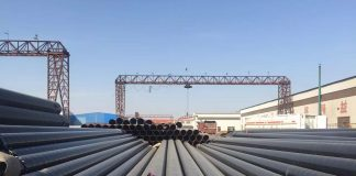 Thermal expansion process of seamless steel pipe