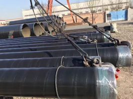 Application of drill pipe thread for spiral steel pipe