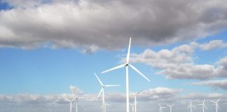 Electrical distribution network starts on Perdekraal East Wind Farm in South Africa