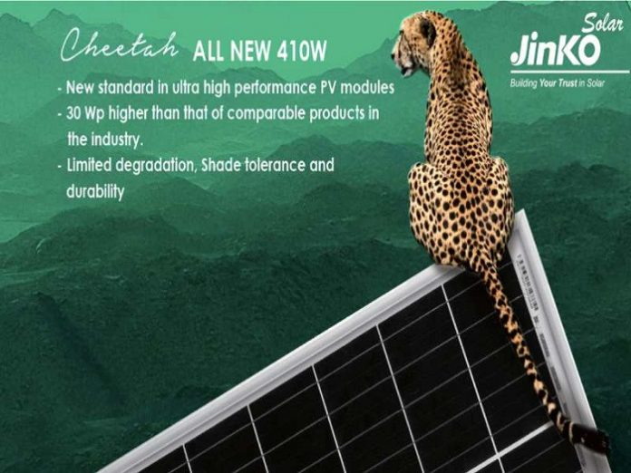 JinkoSolar flagship product Cheetah launches at SNEC 2018