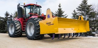 K-Tec Earthmovers announce a Box Blade to be pulled by a 500+HP Tractor for an ideal cut zone maintainer!
