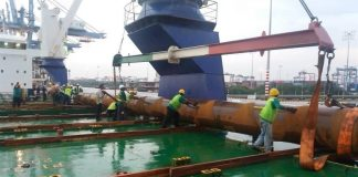 Production process of large diameter straight seam welded pipe