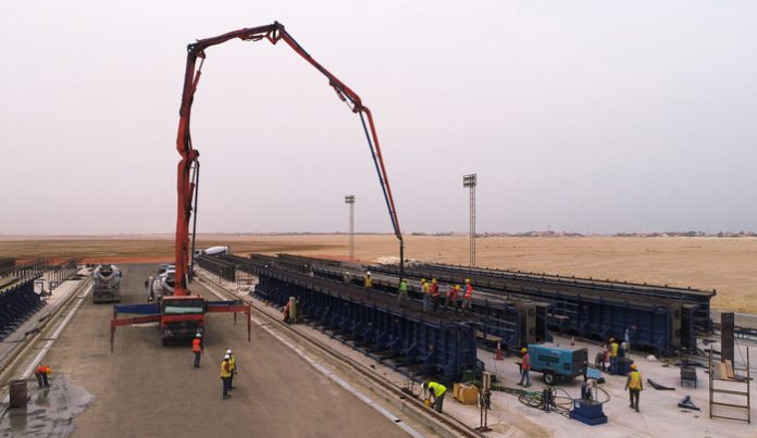 Infrastructure Project in Kuwait: Tecnocom moulds form bridge girders at Nawaseeb Road