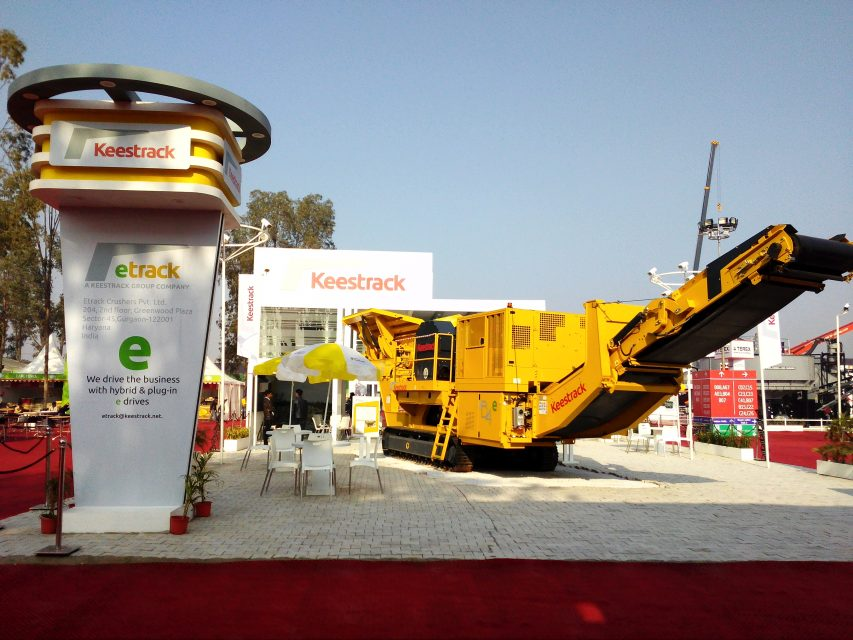 Keestrack showcase the revolutionary mobile Jaw crusher at the Bauma Conexpo India