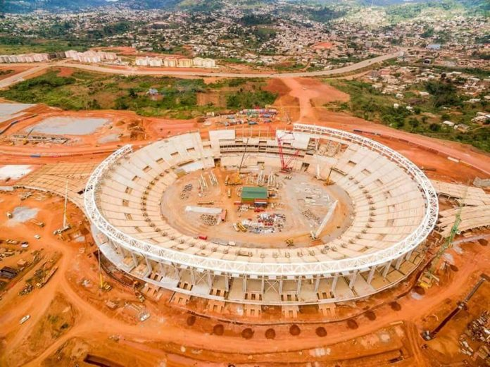 Construction works at Olembe Stadium in Cameroon nears completion