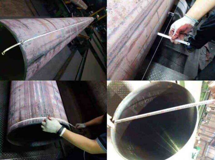 Spiral steel pipe quality inspection method