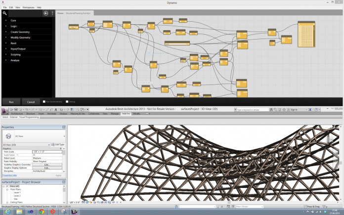 Improving BIM workflow with dynamo revit plugin