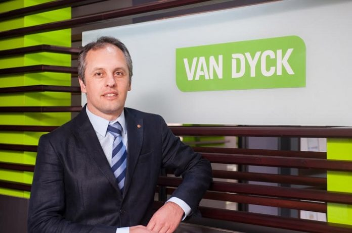 Van Dyck Floors range rubber stamped by GreenTag