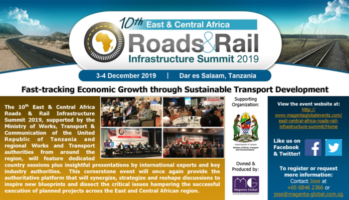 10th East & Central Africa Roads & Rail Infrastructure Summit 2019