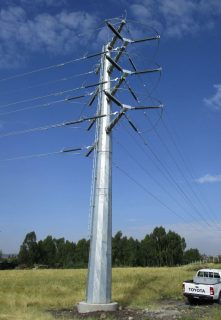 Lattice-type towers for power transmission and distribution project