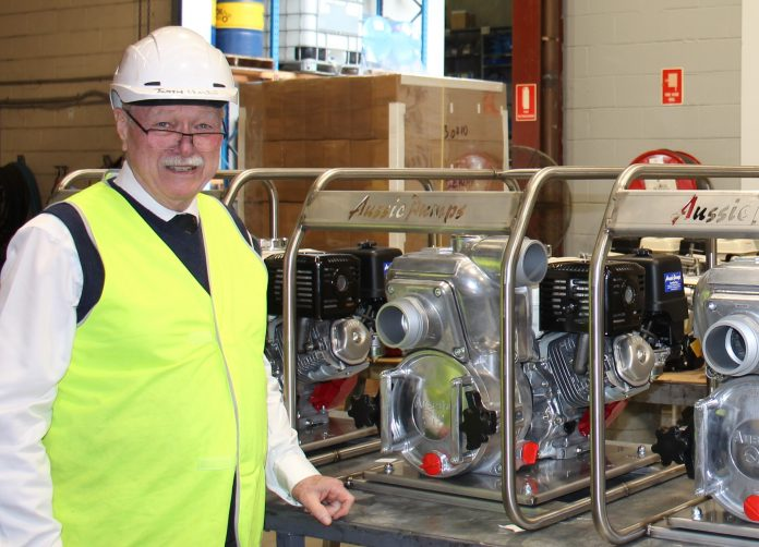 Aussie pumps Chief Engineer,Mr. John Hales. A qualified life time Engineer involved in earth moving and fluid industry.