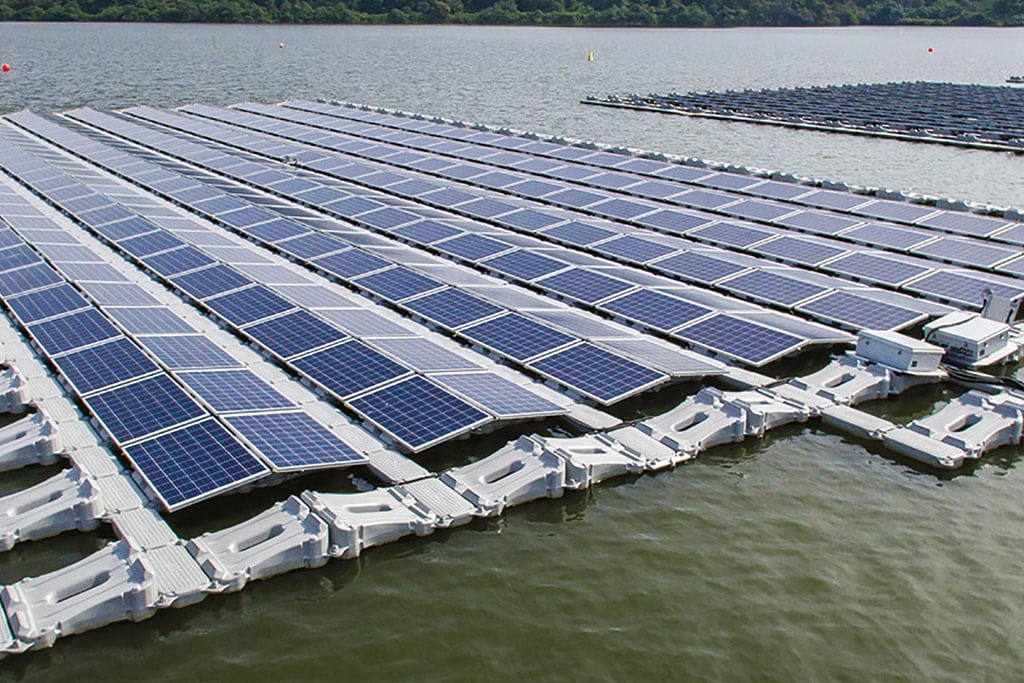 Singapore begins construction of world's largest inland floating PV system.