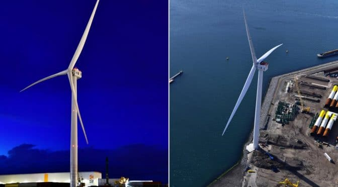 World's largest offshore windfarm places record-breaking turbine order.
